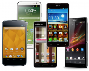 Variety of Android Phones