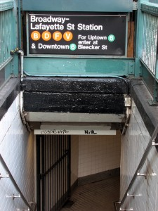 Broadway-Lafayette NYC Subway Station Entrance